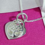 Heart Pendant, Tree of Life personalised, Silver ref. TOLP